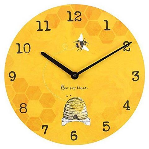 Bee On Time 28617 - Large Rustic Retro Kitchen Wall Clock 34cm